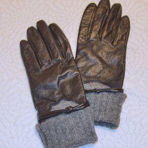 Merona Black Leather Gloves